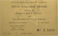Political:Small Paper (1896-present), John F. Kennedy: Texas Welcome Dinner Invite....