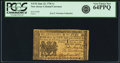 Colonial Notes:New Jersey, New Jersey June 22, 1756 1 Shilling Fr. NJ-92. PCGS Very Choice New64PPQ.. ...