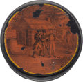 Political:3D & Other Display (pre-1896), William Henry Harrison: Outstanding Campaign Snuff Box. ...