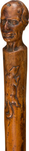 Political:3D & Other Display (pre-1896), Henry Clay: Folk Art Racoon Campaign Cane....