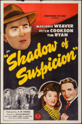 "Movie Posters:Crime, Shadow of Suspicion (Monogram, 1944). One Sheet (27"" X 41""). Crime.. ..."