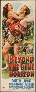 "Movie Posters:Adventure, Beyond the Blue Horizon (Paramount, 1942). Insert (14"" X 36"").Adventure.. ..."