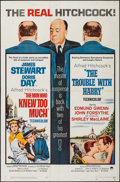 "Movie Posters:Hitchcock, The Man Who Knew Too Much/The Trouble with Harry Combo (Paramount, R-1963). One Sheet (27"" X 41""). Hitchcock.. ..."