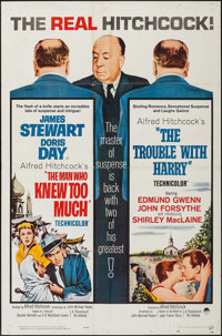 """The Man Who Knew Too Much/The Trouble with Harry Combo (Paramount, R-1963). One Sheet (27"""" X 41""""). Hitchcock..."""