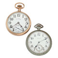 Timepieces:Pocket (post 1900), Illinois Bunn & Elgin Open Face Pocket Watches. ... (Total: 2Items)