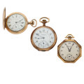 Timepieces:Pocket (post 1900), Bravingtons, Rockford & Waltham Pocket Watches. ... (Total: 3 Items)