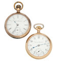 Timepieces:Pocket (post 1900), Hamilton & Auora 18 Size Pocket Watches. ... (Total: 2 Items)
