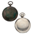 Timepieces:Pocket (pre 1900) , Elgin & B. Laval Private Label Key Wind Pocket Watches. ...(Total: 2 Items)