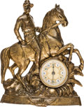 Political:3D & Other Display (1896-present), Theodore Roosevelt: Rough Rider Mantel Clock....