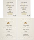 Baseball Collectibles:Others, 1990's-2000's Bobby Murcer Emmy Award Nomination Certificates Lotof 4....
