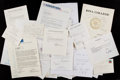 Miscellaneous Collectibles:General, Misc. Sports Greats and Executives Signed and Unsigned Letters,Etc. Lot of 20+....