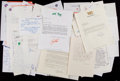 Baseball Collectibles:Others, Baseball Executives and Greats Signed and Unsigned Letter Lot of20+....