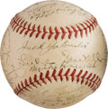 Baseball Collectibles:Balls, 1944 St. Louis Browns Team Signed Baseball....