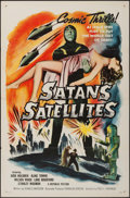 """Movie Posters:Science Fiction, Satan's Satellites (Republic, 1958). One Sheet (27"""" X 41""""). ScienceFiction.. ..."""
