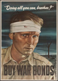 "Movie Posters:War, World War II Propaganda (U.S. Government Printing Office, 1943).War Bonds Poster (28.5"" X 40"") ""Doing All You Can, Brother?..."