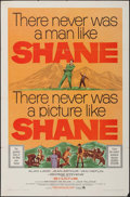 """Movie Posters:Western, Shane (Paramount, R-1966). One Sheet (27"""" X 41""""). Western.. ..."""
