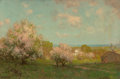 Paintings, Julian Onderdonk (American, 1882-1922). Landscape with Apple Blossom Trees. Oil on canvas. 16 x 24-1/4 inches (40.6 x 61...