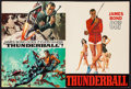 "Movie Posters:James Bond, Thunderball (United Artists, 1965). U.S. Program & British Program (Multiple Pages, 9"" X 12"" & 9.25"" X 12.5""). James Bond.... (Total: 2 Items)"