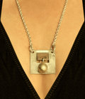 Hans Hansen & Son Pendant Necklace, circa 1960 Sterling silver 13 inches long (33.0 cm) Stamp