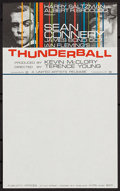 "Movie Posters:James Bond, Thunderball (United Artists, 1965). Stationary with Letterhead (8"" X 13""). James Bond.. ..."