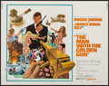 "Movie Posters:James Bond, The Man with the Golden Gun (United Artists, 1974). Half Sheet (22""X 28""). James Bond.. ..."
