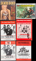 Movie Posters:James Bond, James Bond Song Book & Others Lot (Unart Music Corporation,1964). U.S. Sheet Music Booklets (2) & British Sheet MusicBookl... (Total: 6 Items)