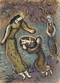 After Marc Chagall (1887-1985) The Story of the Exodus (four works), 1966 Lithograph in c
