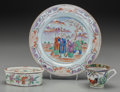 Asian:Chinese, Three Chinese Porcelain Items, 19th & 20th centuries. 9 inchesdiameter (plate) (22.9 cm). ... (Total: 3 Items)