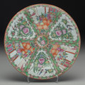Asian:Chinese, A Chinese Rose Medallion Porcelain Charger, early 20th century. Marks: MADE IN CHINA. 2 inches high x 14-3/4...