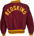 Football Collectibles:Uniforms, Late 1960's Early 1970's Washington Redskins Game Worn Sideline Jacket. ...