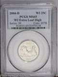Statehood Quarters: , 2004-D 25C Wisconsin Extra Leaf High MS65 PCGS. PCGS Population(322/34). (#914033)...