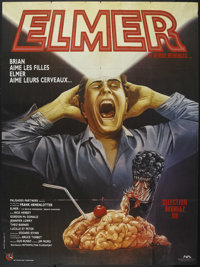"Brain Damage (Palisades Entertainment Group, 1988). French Grande (45.5"" X 62""). Horror Comedy"