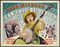 "Movie Posters:Comedy, Can This Be Dixie? (20th Century Fox, 1936) Style B. Half Sheet (22"" X 28""). Comedy. ..."