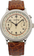 Timepieces:Wristwatch, Eberhard & Co Stainless Steel Monopusher Chronograph. ...