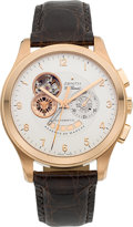 Timepieces:Wristwatch, Zenith 18k Rose Gold Grande Class XXT Open Chronograph Wristwatch....