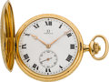 Timepieces:Pocket (post 1900), Omega Fine Two Color Gold Pocket Watch With Original Box, circa1916. ...