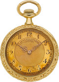 "Timepieces:Pendant , Patek Philippe Rare Gold Floral & ""Griffin"" Lady's Watch, circa1904. ..."