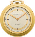 Timepieces:Pocket (post 1900), Patek Philippe Rare Art Deco Gold Pocket Watch For Walser Wald. ...