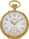 Timepieces:Pendant , Patek Philippe Lady's Gold Pendant Watch, circa 1905. ...