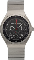 Timepieces:Wristwatch, Porsche Design by IWC Titanium Chronograph Wristwatch. ...