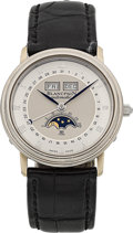 Timepieces:Wristwatch, Blancpain Villeret 18k White Gold Triple Calendar Moonphase Wristwatch No. 22. ...