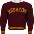 Football Collectibles:Uniforms, 1943-45 Washington Redskins Game Worn Player's Sweater. ...