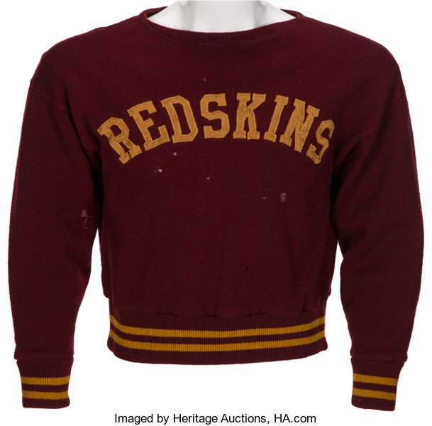 16bf75cc 1943-45 Washington Redskins Game Worn Player's Sweater. ... | Lot ...