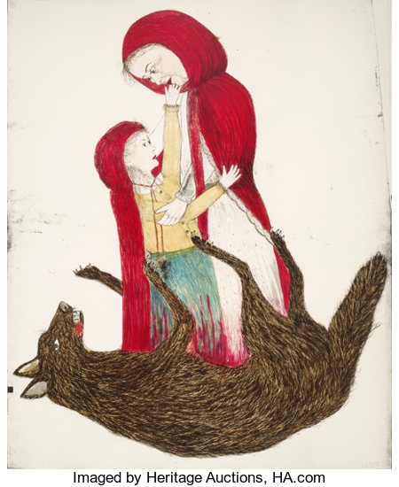 Kiki Smith (b. 1954)Born, 2002Lithograph in colors on Saunders Watercolor HP from St. Cuthberts Mill paper68 x 56 ...