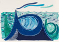 Post-War & Contemporary:Contemporary, David Hockney (b. 1937). The Wave, 1990. Lithograph incolors on Arches 88 paper. 27 x 38-1/8 inches (68.6 x 96.8 cm).E...