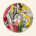 Prints:Contemporary, Roy Lichtenstein (1923-1997). The Solomon R. Guggenheim MuseumPoster, 1969. Screenprint in colors on Rives paper. 23 x ...