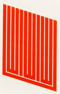 Prints:Contemporary, Donald Judd (1928-1994). Untitled, 1961-69. Woodcut incadmium red. 25 x 16 inches (63.5 x 40.6 cm) (image). 30 x 22inc...