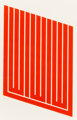 Donald Judd (1928-1994) Untitled, 1961-69 Woodcut in cadmium red 25 x 16 inches (63.5 x 40.6 cm) (image) 30 x 22 inc