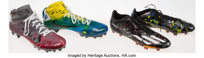 e4e2eb5f2456 ... Football Collectibles:Others, 2016 Ezekiel Elliott Sprint Shoes and  Cleats Worn in the NFLScouting ...
