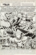 Original Comic Art:Splash Pages, Herb Trimpe and Dan Green Shogun Warriors #5 Splash Page 1Original Art (Marvel, 1979)....